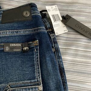 Distressed Buffalo blue jeans